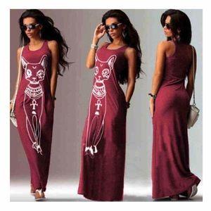 Dresses & Skirts - Egyptian Cat Maxi Dress